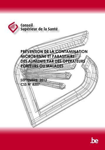 Prévention de la contamination microbienne et parasitaire ... - Favv