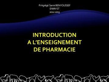 Introduction : pharmacie-toxicologie