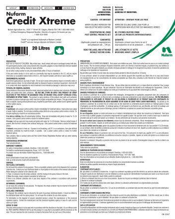 Credit Xtreme - Nufarm Canada