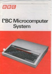 BBC Microcomputer System Information Sheet G2