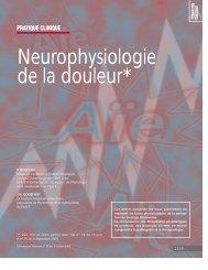 Neurophysiologie de la douleur* - Information dentaire