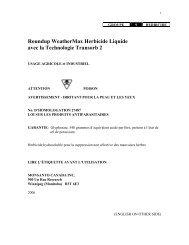 Roundup WeatherMAX® Étiquette Principale - DuPont