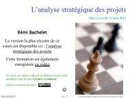 L'analyse stratégique des projets - Rémi Bachelet - Ecole Centrale ...