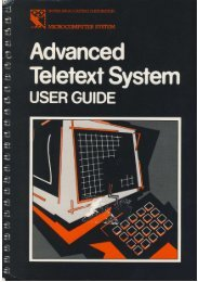 Advanced Teletext System User Guide