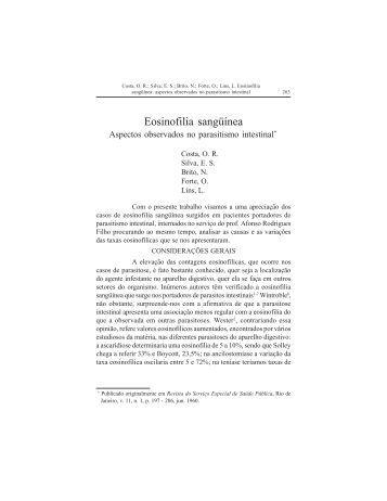 Eosinofilia sangüínea - Governo do Estado do Pará