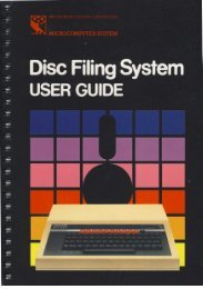 The Disc Filing System User Guide