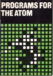 Programs for the Atom