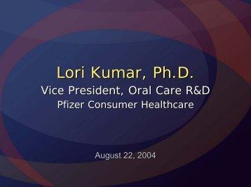 Lori Kumar, Ph.D. - CINF