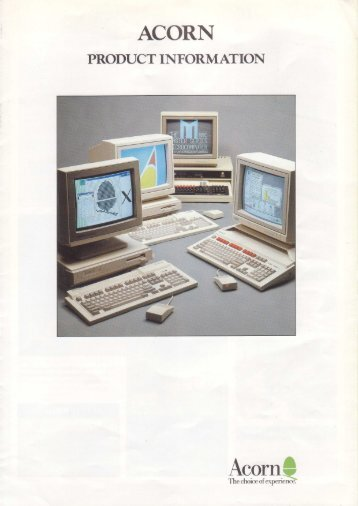 APP218 Acorn Product Information 2nd Edition July 1989