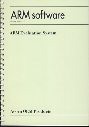 ARM Software reference manual