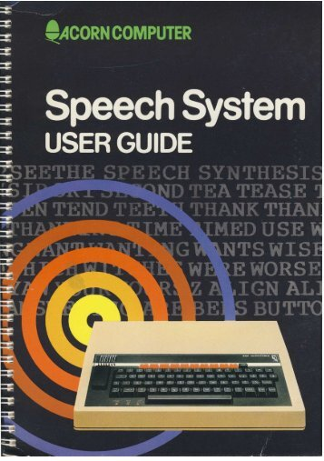 Speech System User Guide