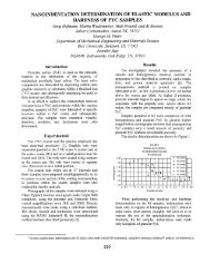Nanoindentation determinations of elastic modulus and hardness of ...