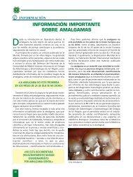 09 Informaci.n Amalgamas - Colegio Oficial Dentistas Cadiz