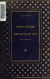 Serviteurs et servantes de Dieu en Canada - University of Toronto ...