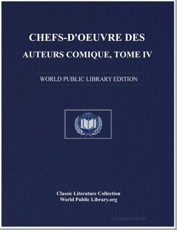 chefs-d'oeuvre des auteurs comique, tome iv - World eBook Library