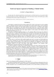 Total Least Squares Approach to Modeling - Acta Montanistica ...