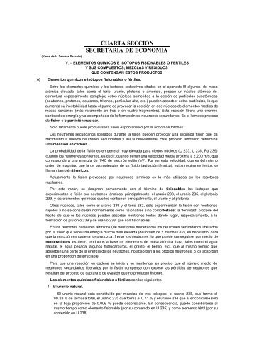 CUARTA SECCION SECRETARIA DE ECONOMIA