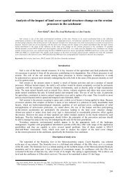 Analysis of the impact of land cover spatial structure change on the ...