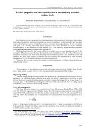 Particle properties and their modification in mechanically activated ...