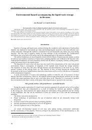 Environmental hazard accompanying the liquid waste storage in the ...