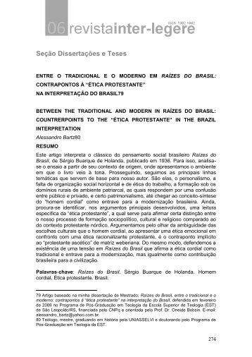 Seção Dissertações e Teses - CCHLA/UFRN