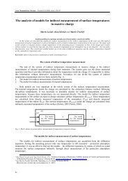 The analysis of models for indirect measurement of surface ...