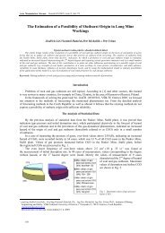 The Estimation of a Possibility of Outburst Origin in Long Mine ...