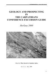 Geology and Prospecting in the Carpathians conference exursion ...
