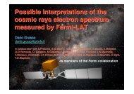 Astrophysical interpretations of recent cosmic ray ... - Infn
