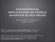 astronomical implications of stable, quantum black holes - Infn