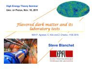 Flavored Dark Matter, and Its Implications for Direct Detection ... - Infn