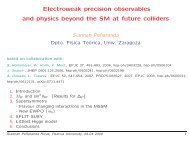 Electroweak precision observables and physics beyond the ... - Infn