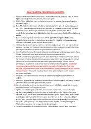sınav dağıtım programı işlem sırası - Adana Milli Eğitim Müdürlüğü