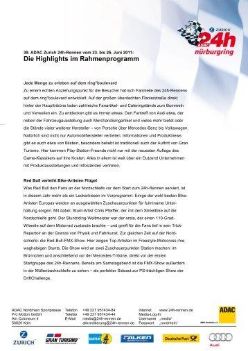 Die Highlights im Rahmenprogramm - 24 Stunden Rennen ...