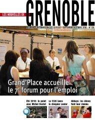 Grand'Place accueille le 7e forum pour l'emploi - Ville de Grenoble