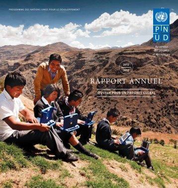 Oeuvrer pour un progrès global : télécharger le rapport