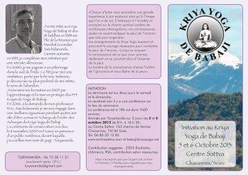 Télécharger le programe en format pdf - Babaji's Kriya Yoga