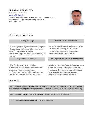 M. Ludovic LEVASSEUR - Antenne de Vientiane