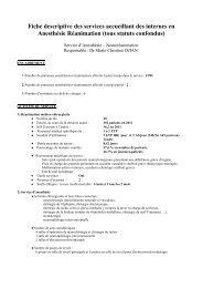 Fiche descriptive des services accueillant des internes en ...
