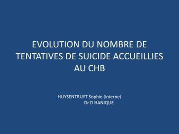 Evolution du nombre de tentatives de suicide : PDF - Fédération ...
