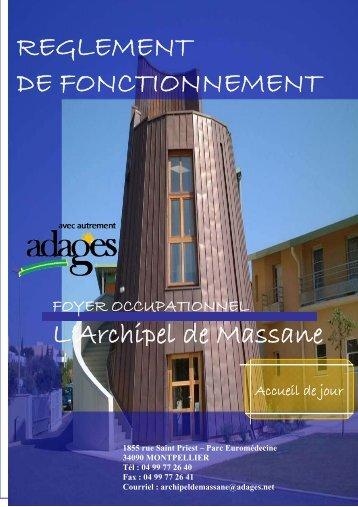 Réglement de fonctionnement ATO - FO ARCHIPEL DE MASSANE ...