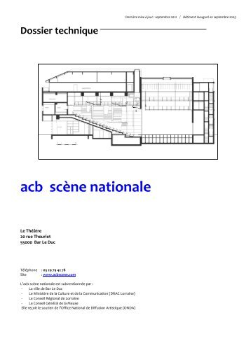 Dossier Technique - acb scène nationale bar-le-duc