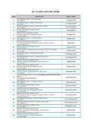 2011 yılı sınav uygulama takvimi