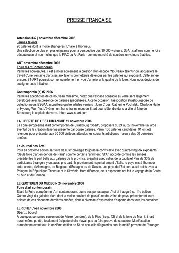 Articles de presse 2006 - St-art
