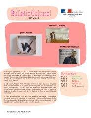 BulletinCulturel - Consulat Général de France à Toronto