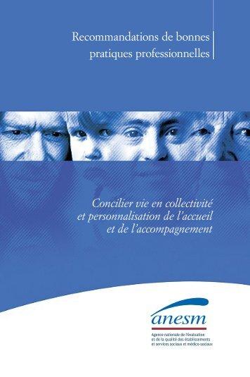 Concilier vie en collectivité et personnalisation de l'accueil et de l ...