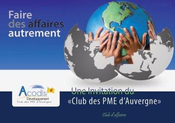 Faire des affaires autrement - Club des PME d'Auvergne