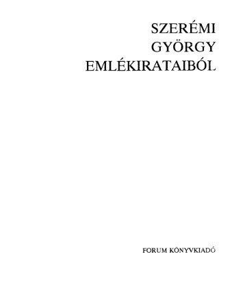 Szerémi György emlékirataiból