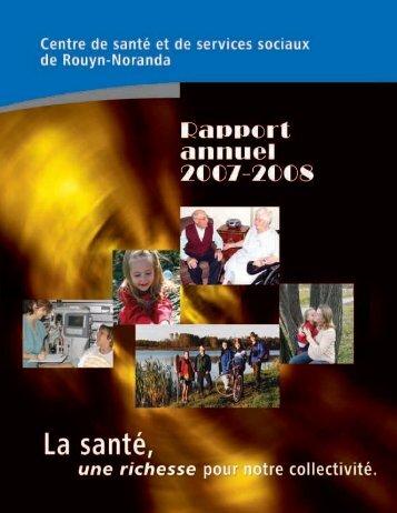 Rapport annuel du CSSS de Rouyn-Noranda 2007-2008
