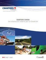 Plan canadien des infrastructures, Chantiers Canada